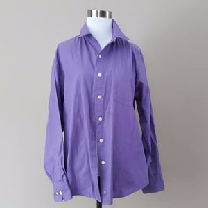 Tops - Purple Blouse Large Cotton